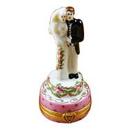 Wedding Couple On Cake Rochard Limoges Box