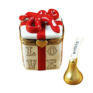 Love Gift Box With Xo/Xo And Removable Kiss Rochard Limoges Box