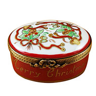 Oval - Merry Christmas Rochard Limoges Box