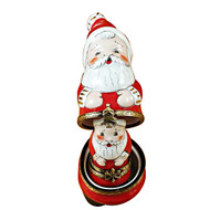 Nest Santa W/Ball On Cap Rochard Limoges Box