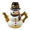 Snowman Teapot Rochard Limoges Box