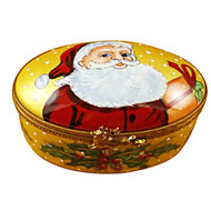 Studio Collection - Oval W/Santa Claus Rochard Limoges Box