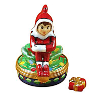 Elf With Package Rochard Limoges Box