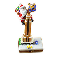 Santa On Empire State Building Rochard Limoges Box