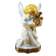 Angel W/Lyre Rochard Limoges Box