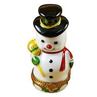 Snowman Rochard Limoges Box