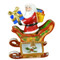 Santa In Sleigh Rochard Limoges Box