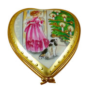 Studio Collection - Heart Little Girl Christmas Tree & Dog Rochard Limoges Box