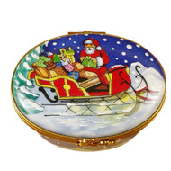 Studio Collection-Santa In Sleigh Rochard Limoges Box