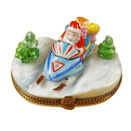 Santa On Snowmobile Rochard Limoges Box