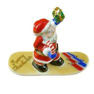 Santa On Snowboard Rochard Limoges Box
