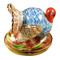 Blue Turkey W/Cornstalk Rochard Limoges Box