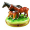 Three Horses Rochard Limoges Box