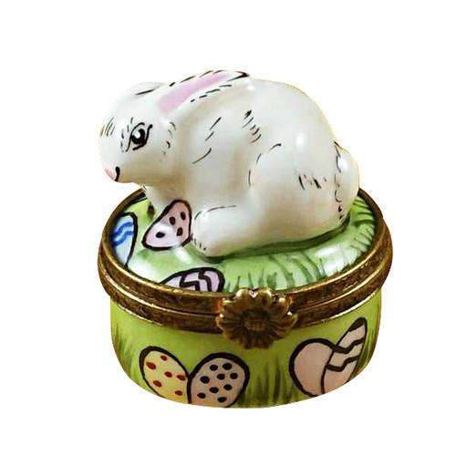 Mini Rabbit W/Easter Eggs Rochard Limoges Box