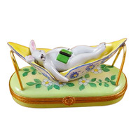 Rabbit In Hammock Rochard Limoges Box
