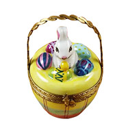 Bunny In Basket Rochard Limoges Box
