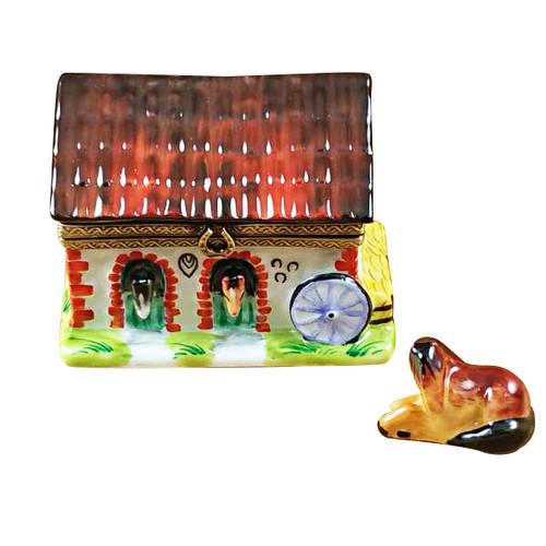 Horse Barn Rochard Limoges Box