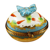 Egg W/Bow & Bunny Rochard Limoges Box