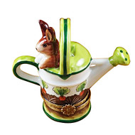 Watering Can W/Rabbit Rochard Limoges Box
