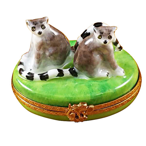 Lemur Monkeys Rochard Limoges Box