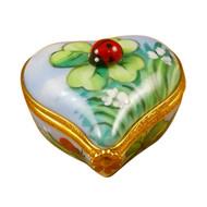 Ladybug On Heart Rochard Limoges Box