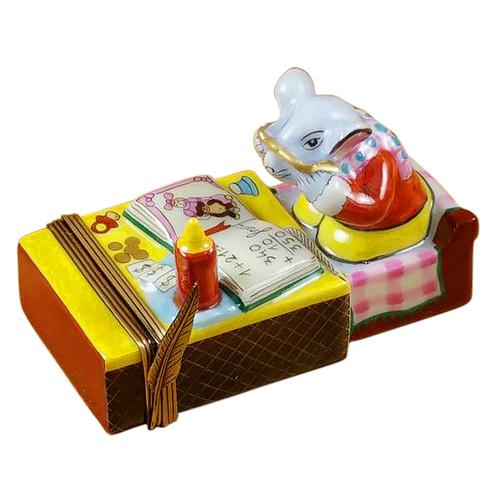 Mouse In Matchbox - Desk Rochard Limoges Box