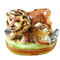 Lion W/Baby Rochard Limoges Box