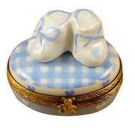 Oval - It'S A Boy W/Shoes Rochard Limoges Box