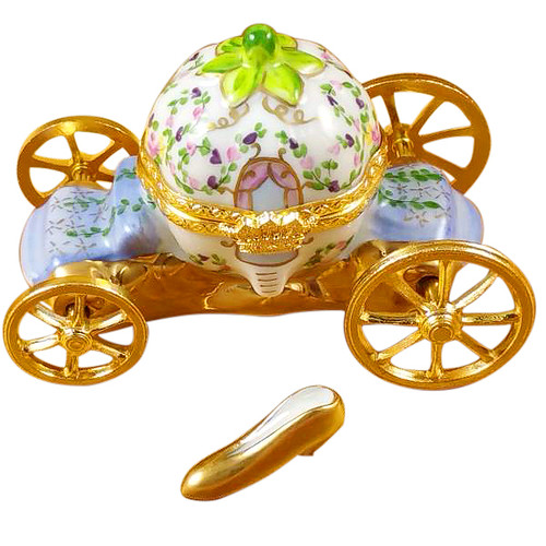 Cinderella Carriage W/Shoe Rochard Limoges Box