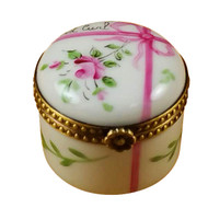 Round Pink First Curl Rochard Limoges Box