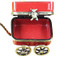 Rochard RED WAGON WITH BEAR Limoges Box RB102-I