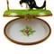 Cat W/Three Birdhouses Rochard Limoges Box