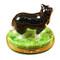 Black & White Sheep Dog Rochard Limoges Box