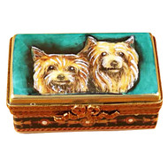 Yorkies Rectangular Base Rochard Limoges Box