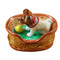 Jack Russell Terrier In Basket Rochard Limoges Box