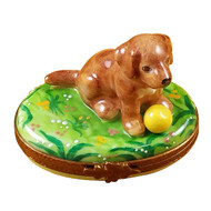 Chocolate Labrador Rochard Limoges Box