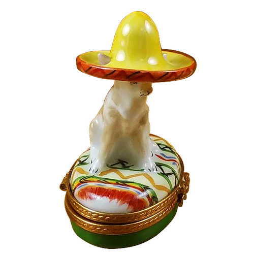 Chihuahua With Sombrero Rochard Limoges Box