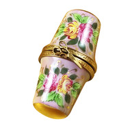 Floral Thimble Box Rochard Limoges Box
