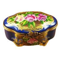 Studio Collection - Chest W/Floral Medallions Rochard Limoges Box