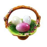 Basket Of Eggs Floral Rochard Limoges Box