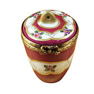 Burgundy Urn With Gold Handle Rochard Limoges Box