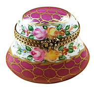 Burgundy With Flowers Rochard Limoges Box