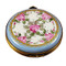 Round Blue With Flowers Rochard Limoges Box