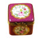 Burgundy Square W/Flowers Rochard Limoges Box