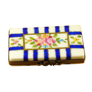 Flat Rectangle W/Blue Stripes Rochard Limoges Box