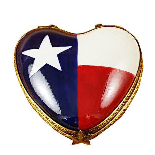 Heart - Texas Flag Rochard Limoges Box