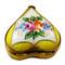 Yellow Heart W/ Flowers Rochard Limoges Box