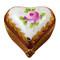 Burgundy Heart W/Flowers Rochard Limoges Box
