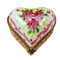 Heart With Pink Trim & Flowers Rochard Limoges Box