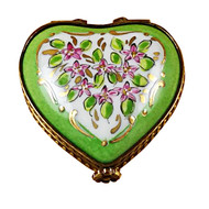 Mini Heart Roses On Green Base Rochard Limoges Box